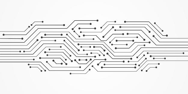 추상 기술 배경, 회로 기판 패턴, 빈 공간