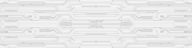 추상 기술 배경, 회로 기판 패턴, 마이크로칩, 전력선