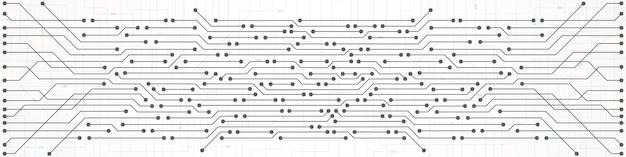 抽象的な技術の背景、回路基板のパターン、マイクロチップ、電力線