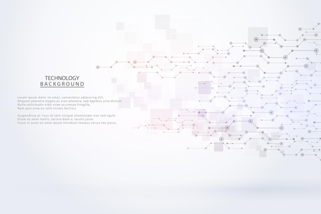 Абстрактный фон технологии привет-тек концепция коммуникации футуристический цифровой фон инноваций для глобальной сети, связи, науки. векторная иллюстрация