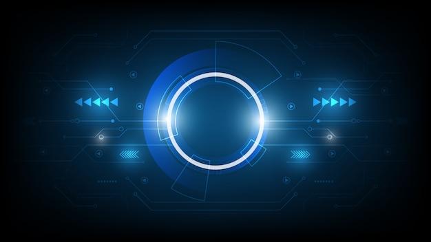 抽象的な技術の背景、ハイテク通信の概念革新の背景、科学と技術のデジタル青い背景