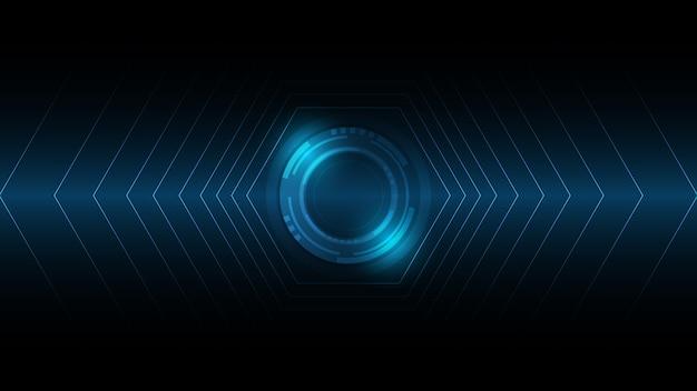 抽象的な技術の背景、ハイテク通信概念の革新の背景、科学と技術のデジタルブルーの背景