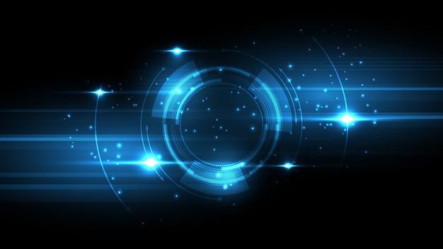 Абстрактный фон технологии привет-тек концепция коммуникации инновационный фон