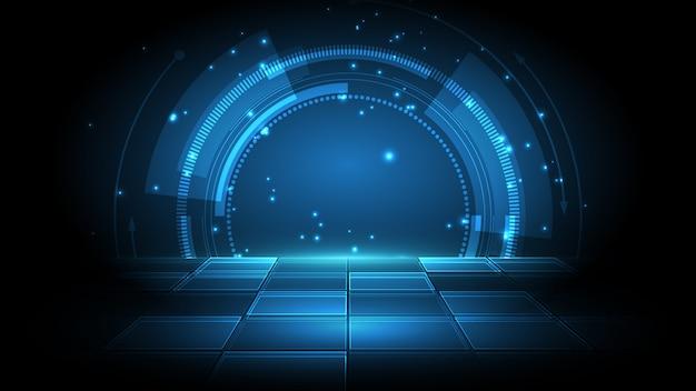 抽象的な技術の背景ハイテク通信の概念革新の背景