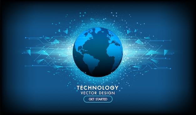 Абстрактный фон технологии привет-tech концепция связи, технологии