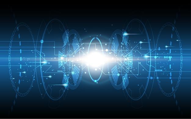 抽象的な技術の背景ハイテクコミュニケーションのコンセプト