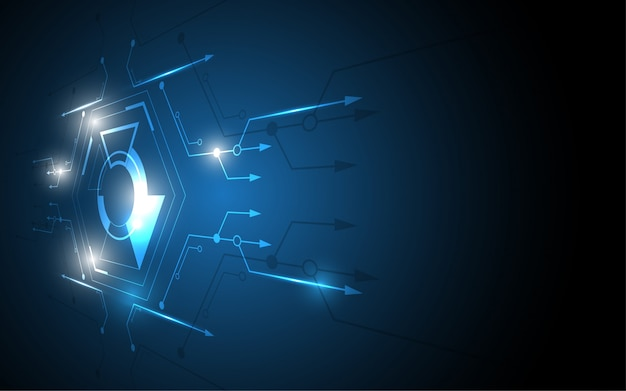 Abstract technology background hi-tech communication concept