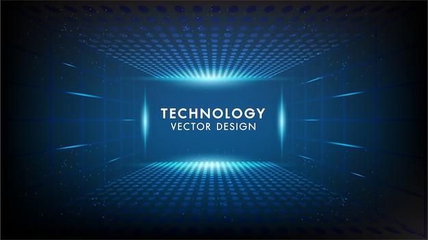 Abstract technology background hi-tech communication, technology, digital business