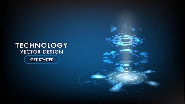 Абстрактный технологический фон hi-tech коммуникация, технология