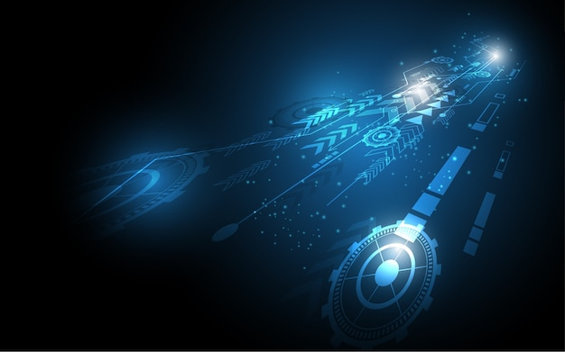 抽象的な技術の背景ハイテクコミュニケーション