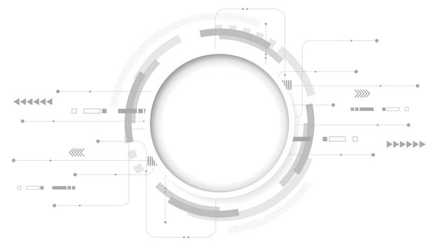 Abstract technology background illustrationhitech communication concept innovation background