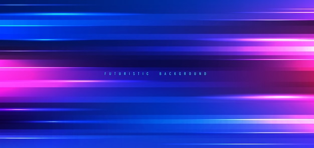 Abstract technology background neon lights effect