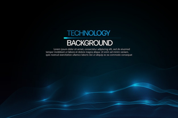 Abstract technology background template.