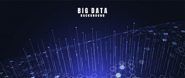 Abstract technology background with big data. internet connection