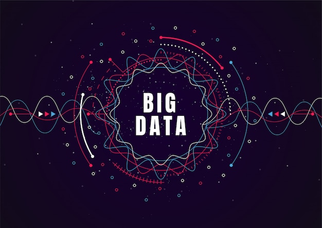 Абстрактный фон технологии с большими данными. интернет-соединение