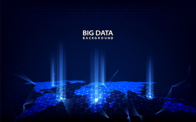 Abstract technology background with big data