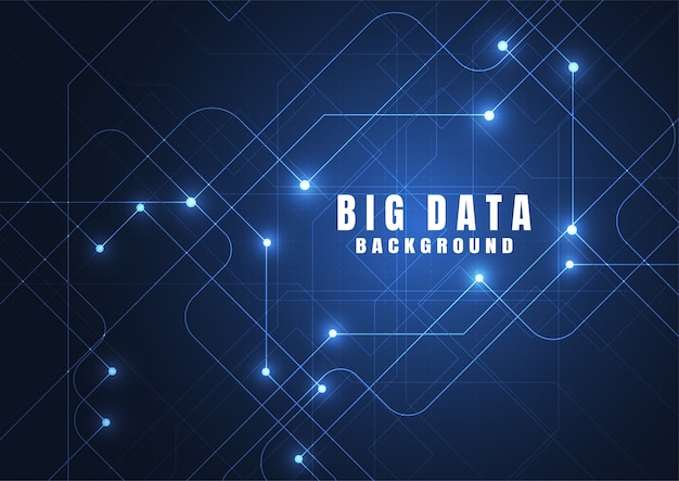 Abstract technology background with big data.