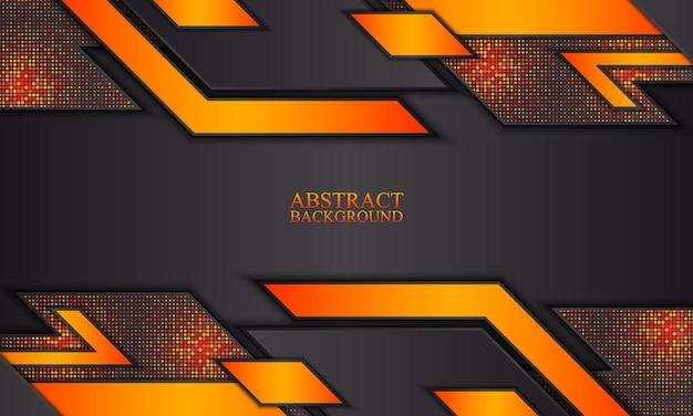 Абстрактный фон технологии с черными и оранжевыми полосами векторные иллюстрации