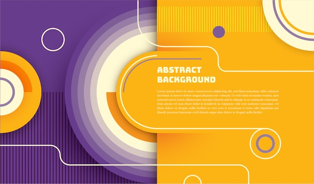Abstract technology background with circles and rounded shapes.