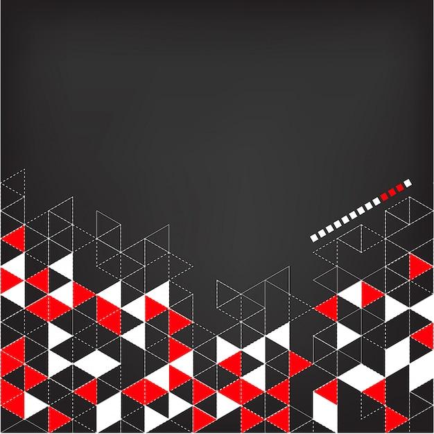 色の三角形の抽象的な技術の背景