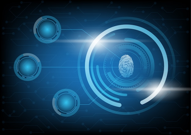 Abstract technology background with fingerprint