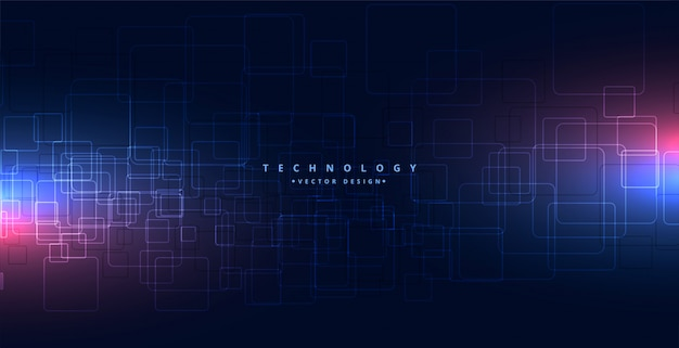 Abstract technology background with glowing lights