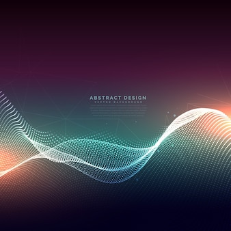 Abstract technology background with glowing wave