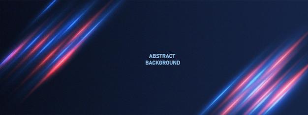 Абстрактный фон технологии с световым эффектом движения