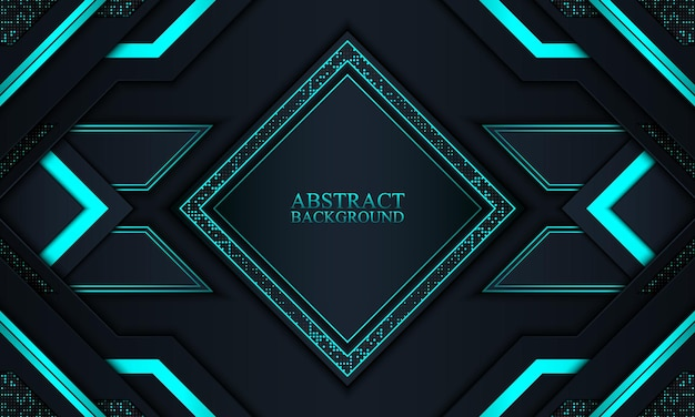 Abstract technology background with navy and blue neon  stripes vector illustration
