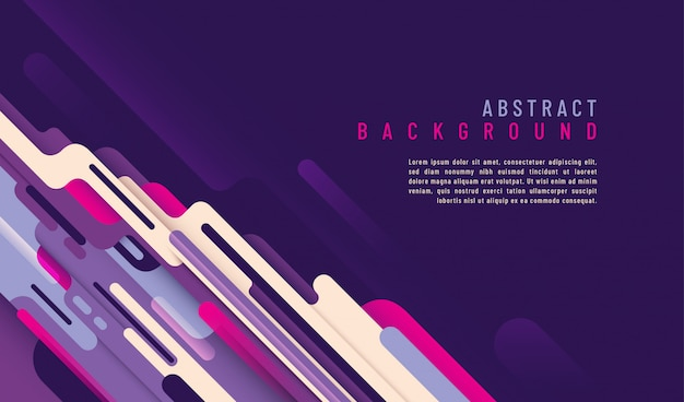Abstract technology background with text template and design with rounded shapes.