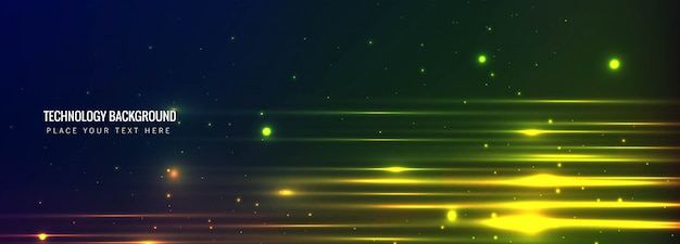 Abstract technology banner background