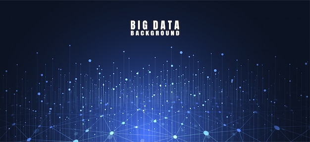 Abstract technology banner with big data
