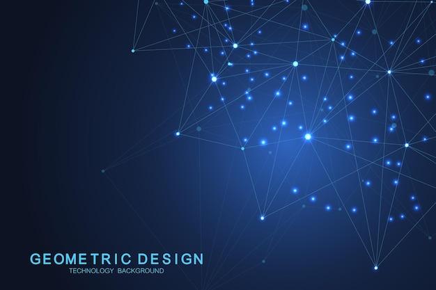 Abstract technology big data visualization design. vector illustration
