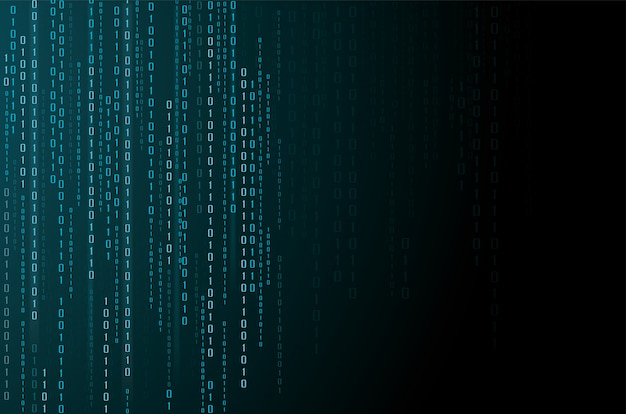 抽象的なテクノロジー。バイナリコードの背景