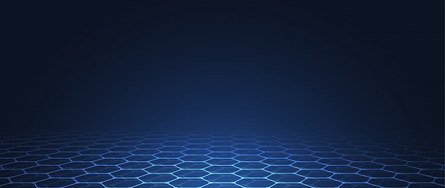 Abstract technology blue hexagons pattern background