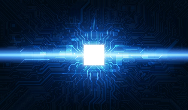 Abstract technology chip processor background circuit board