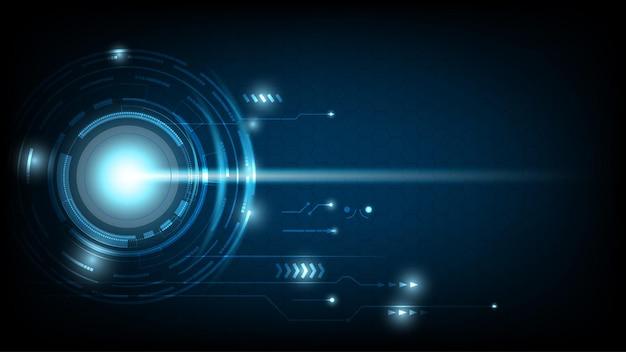 Абстрактный технологический круг цифровой высокотехнологичный дизайн.