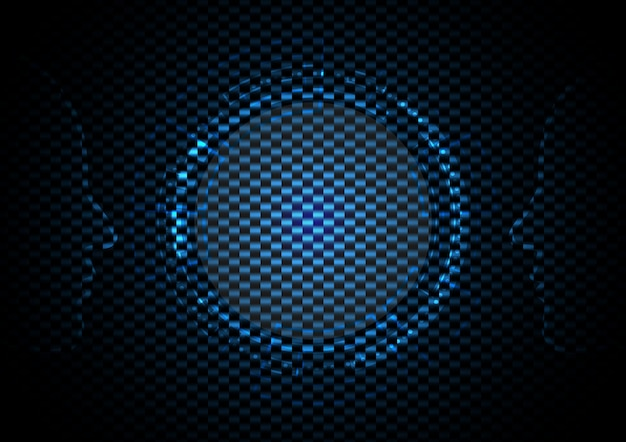 Abstract technology circle with heads background