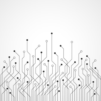 空白のスペースを持つ抽象的な技術の回路基板の背景