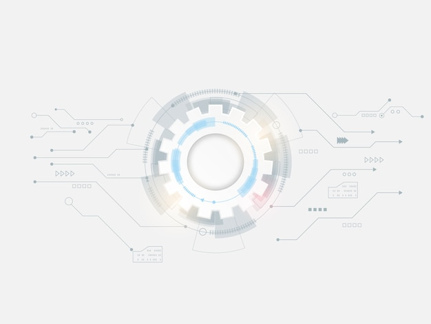 Abstract technology cog gear wheels circle background