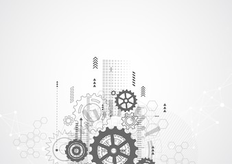 Abstract technology communication design innovation concept