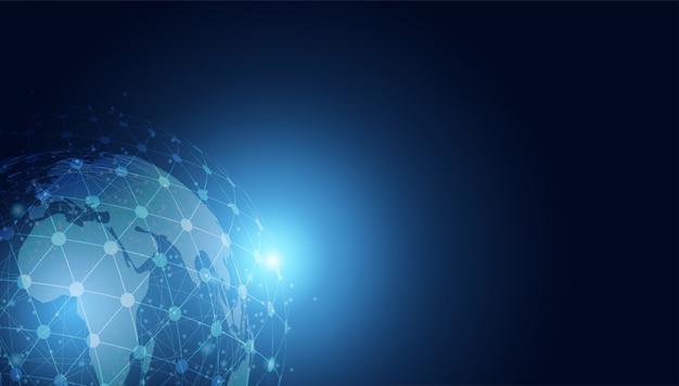 Абстрактная концепция технологии глобальный круг связи футуристический земля