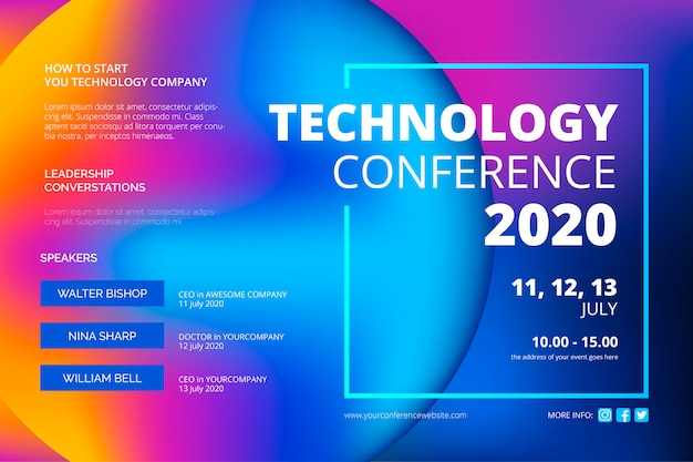Abstract technology conference template