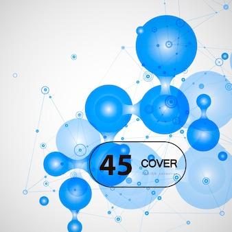 抽象技術データコンセプトネットコミュニケーション。グラフィックサークルデジタルウェブデザイン。勾配接続を接続します。