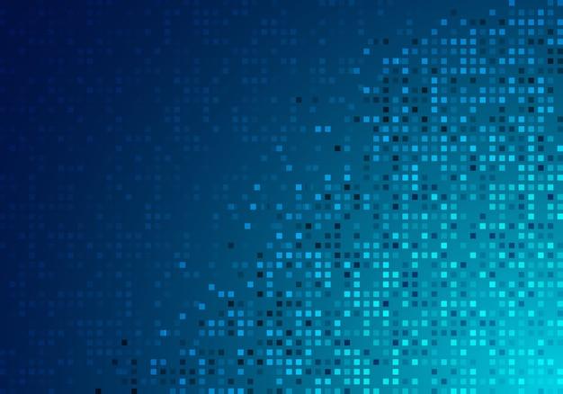 抽象技術デジタルブルー光るピクセル