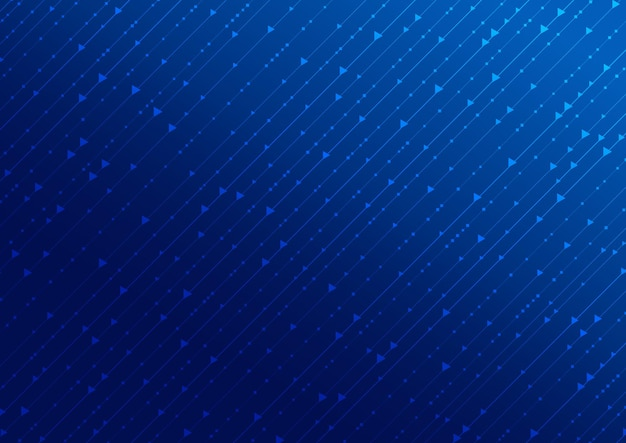 Abstract technology digital concept square and arrow pattern with line on blue background.
