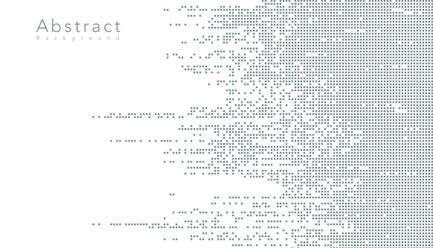抽象的なテクノロジーデジタルデータ正方形ピクセル
