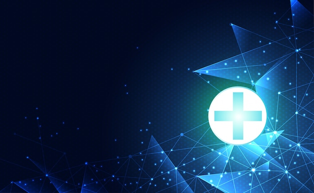 Abstract technology digital health medical