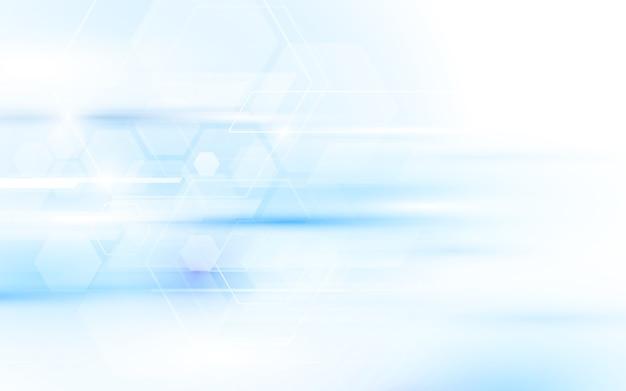 추상적 인 기술 디지털 하이테크 육각형 배경