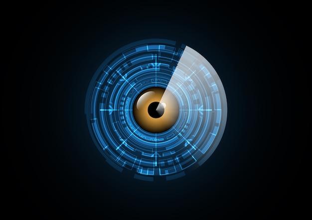 Abstract technology eye radar